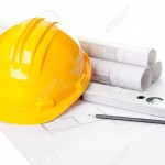11080373-image-of-blueprints-with-level-pencil-and-hard-hat-on-table